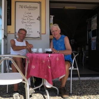 Koffie in Laigueglia