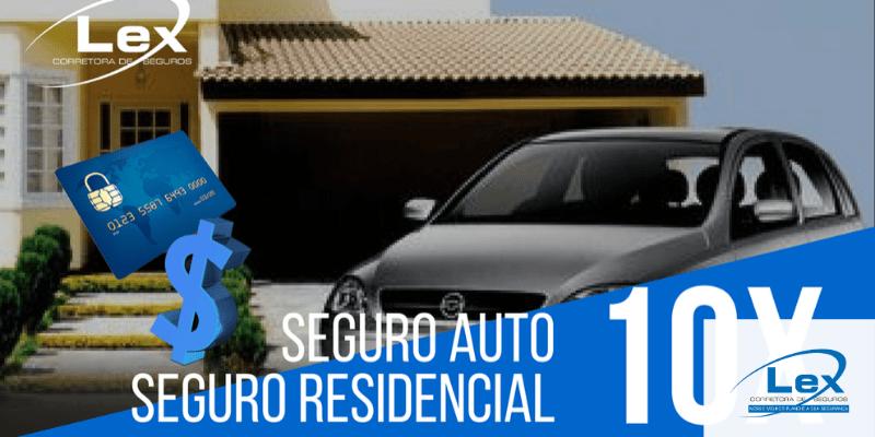 seguro residencial e seguro auto