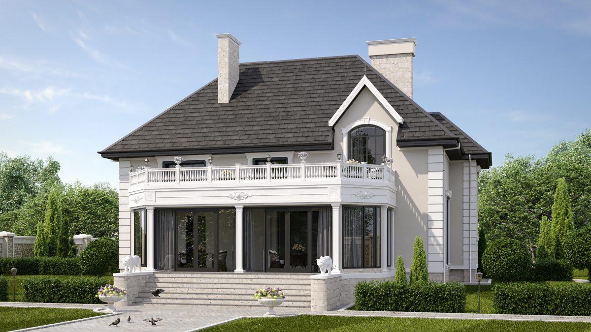 Дом в классическом стиле - день-Р4