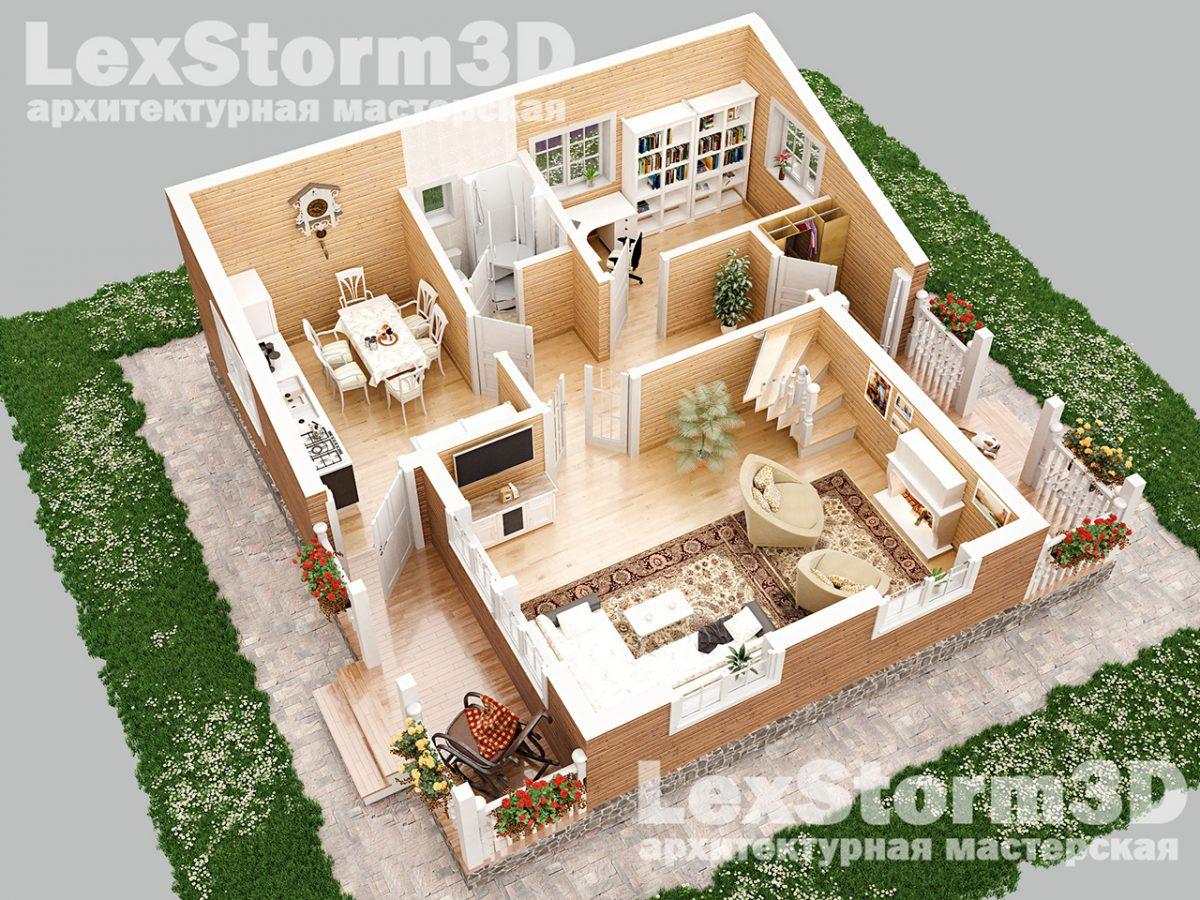 3D Планировка дома