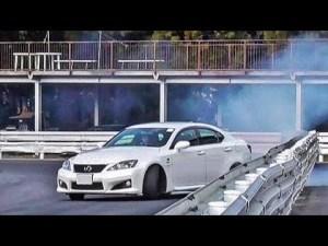 レクサス ISF 460ps 全開ドリフト(Lexus V8 Drift) モーターランド三河