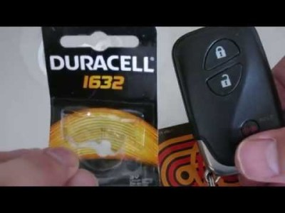 Lexus 2011 CT200h 200h Key FOB Clicker Battery Change Replacement