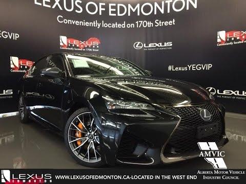 2016 Black Lexus GS F Walkaround Review   Downtown Edmonton Alberta