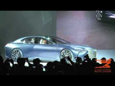 Lexus LF-FC Concept and LC 500 is presented at the 2016 NAIAS