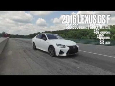 Lexus GS F at Lightning Lap 2016
