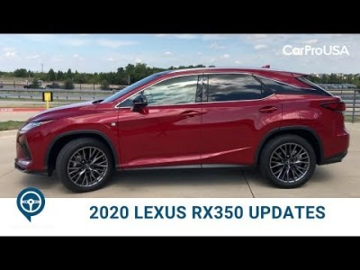 What's New for the 2020 Lexus RX 350