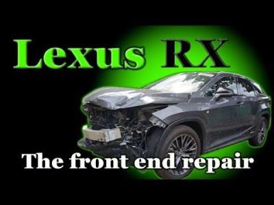 Lexus RX. Body repair. Ремонт переда.