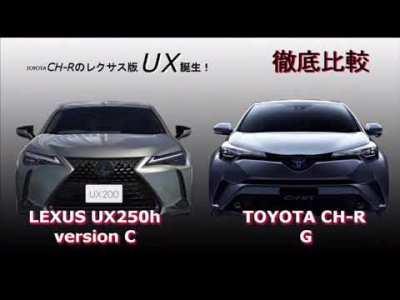 【徹底比較】LEXUS UX250h vs トヨタCH-R