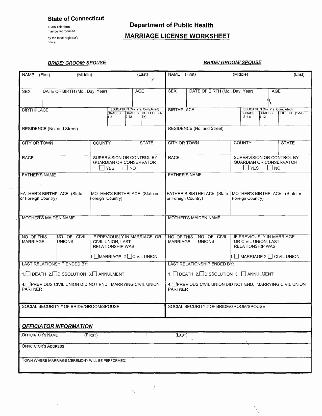 Printable Marriage Counseling Worksheets