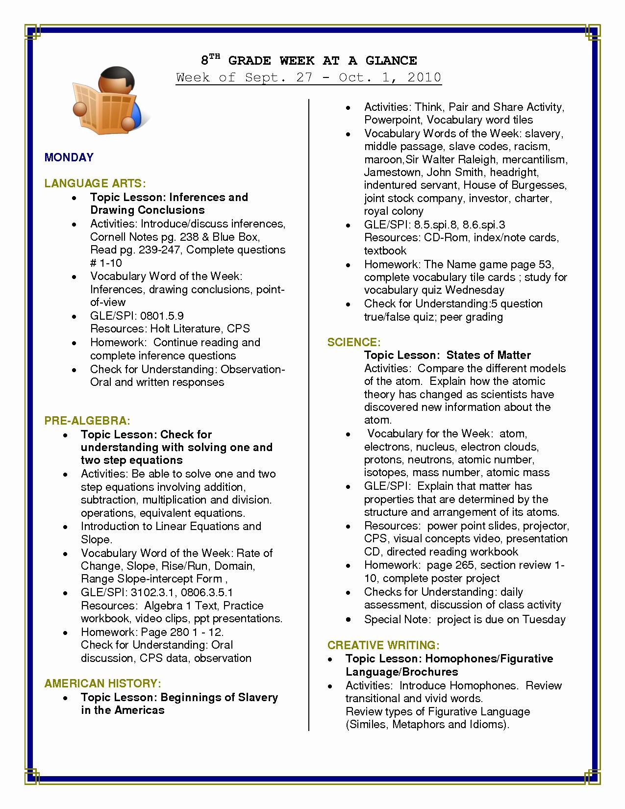 Free Printable Language Arts Worksheets 7th Grade