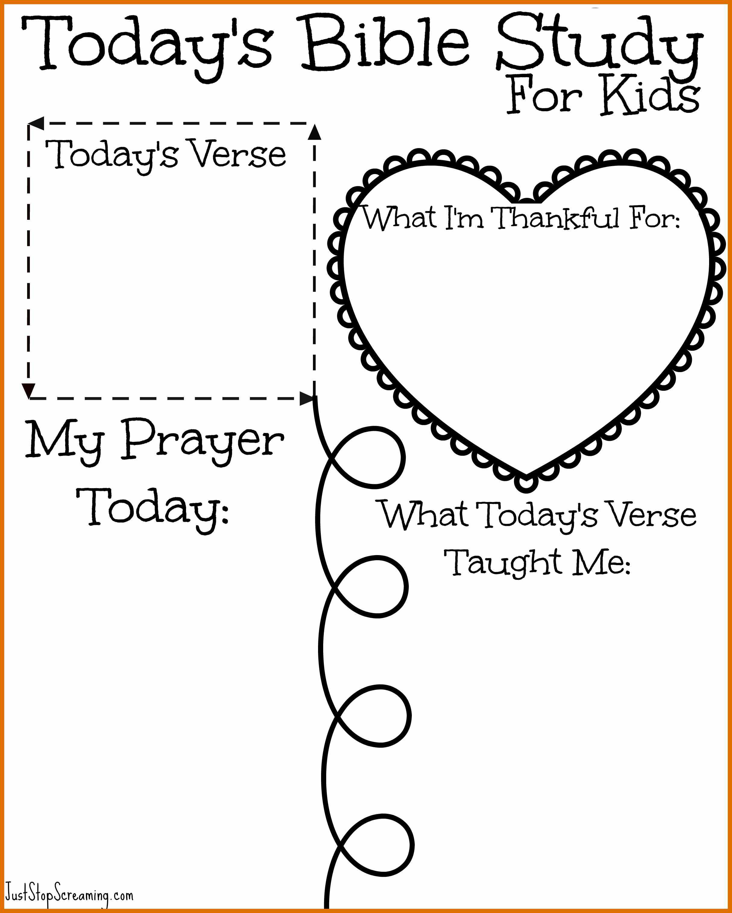 Bible Printable Worksheets