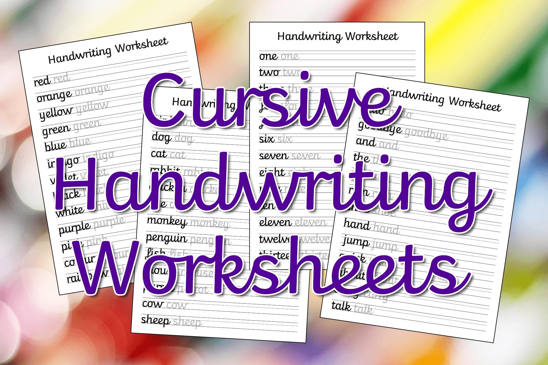 Cursive Handwriting Worksheet