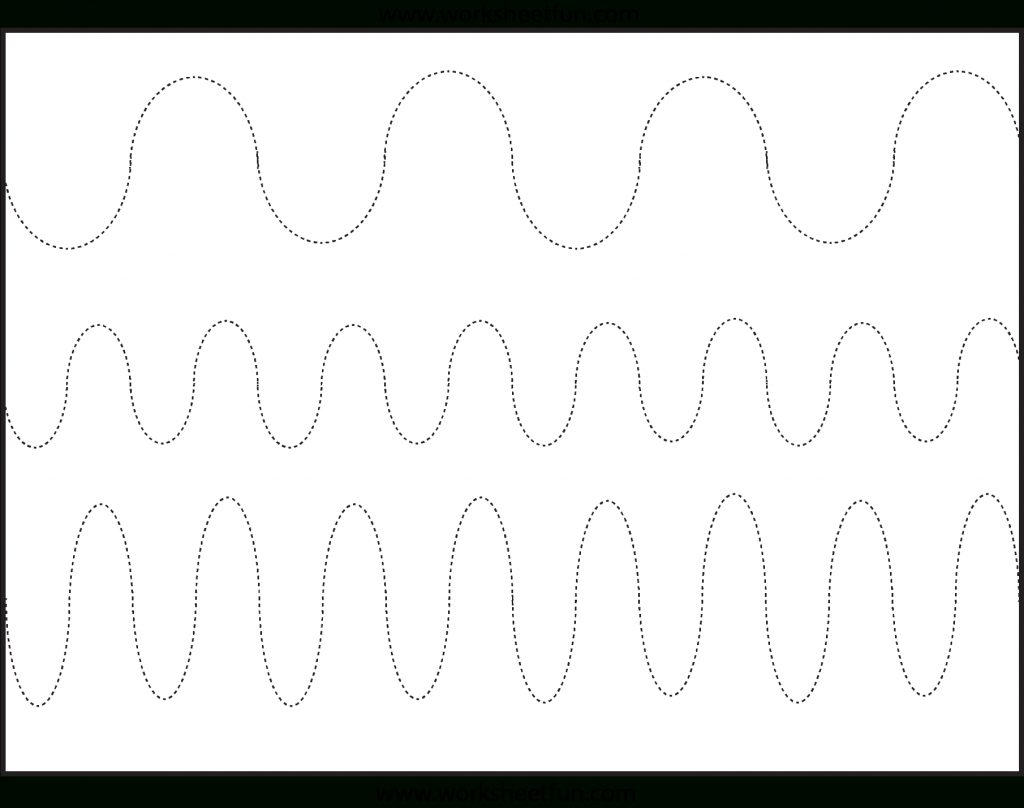 Curved Line Tracing 3 Worksheets Free Printable