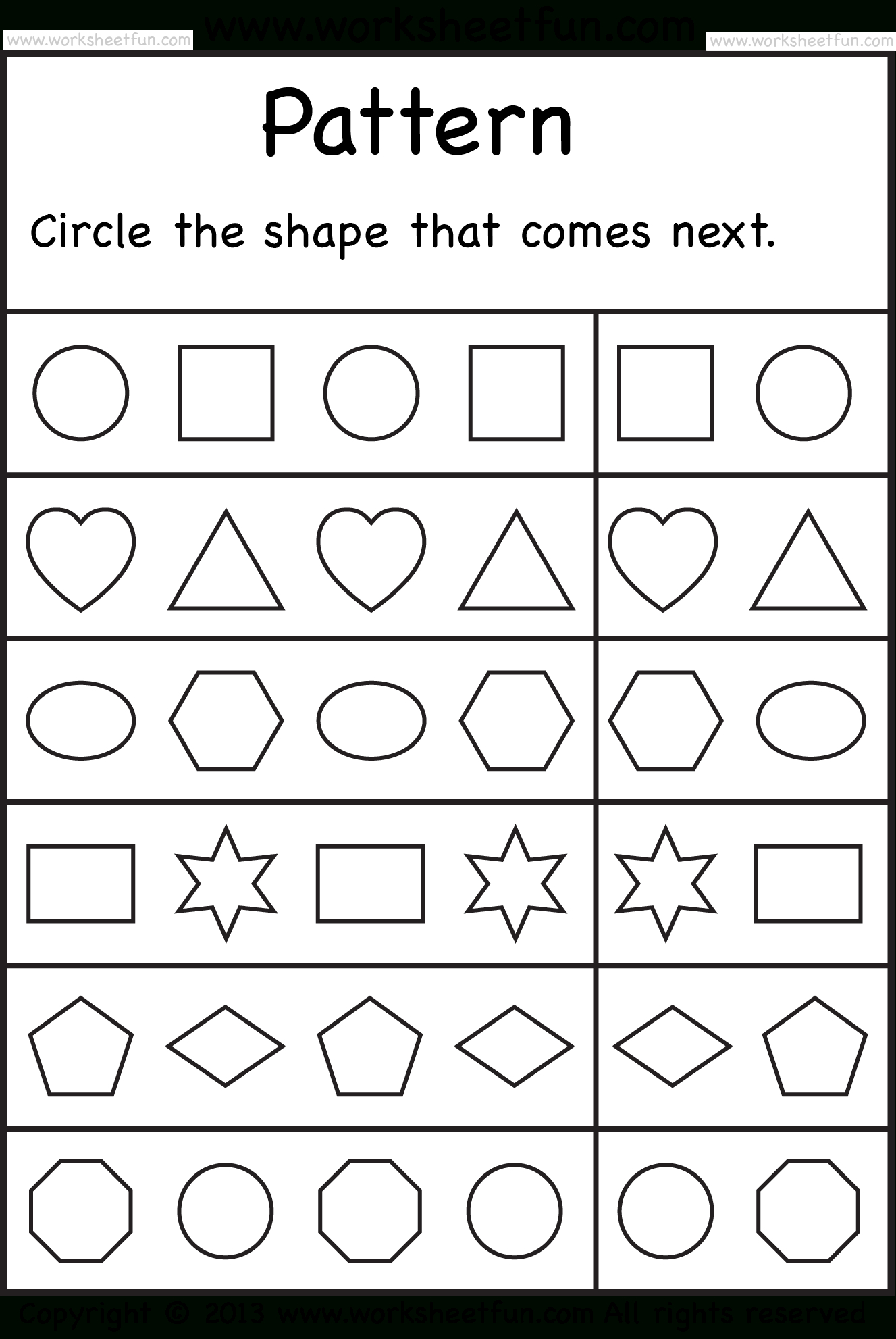 Kindergarten Math Printable Worksheets