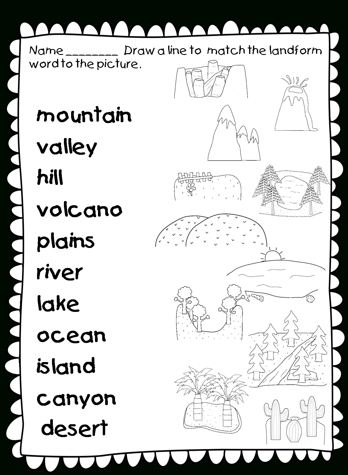 Landforms And Bo S Of Water Freebie