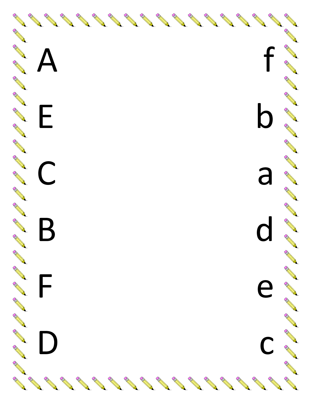 Abc Matching Worksheets Printable