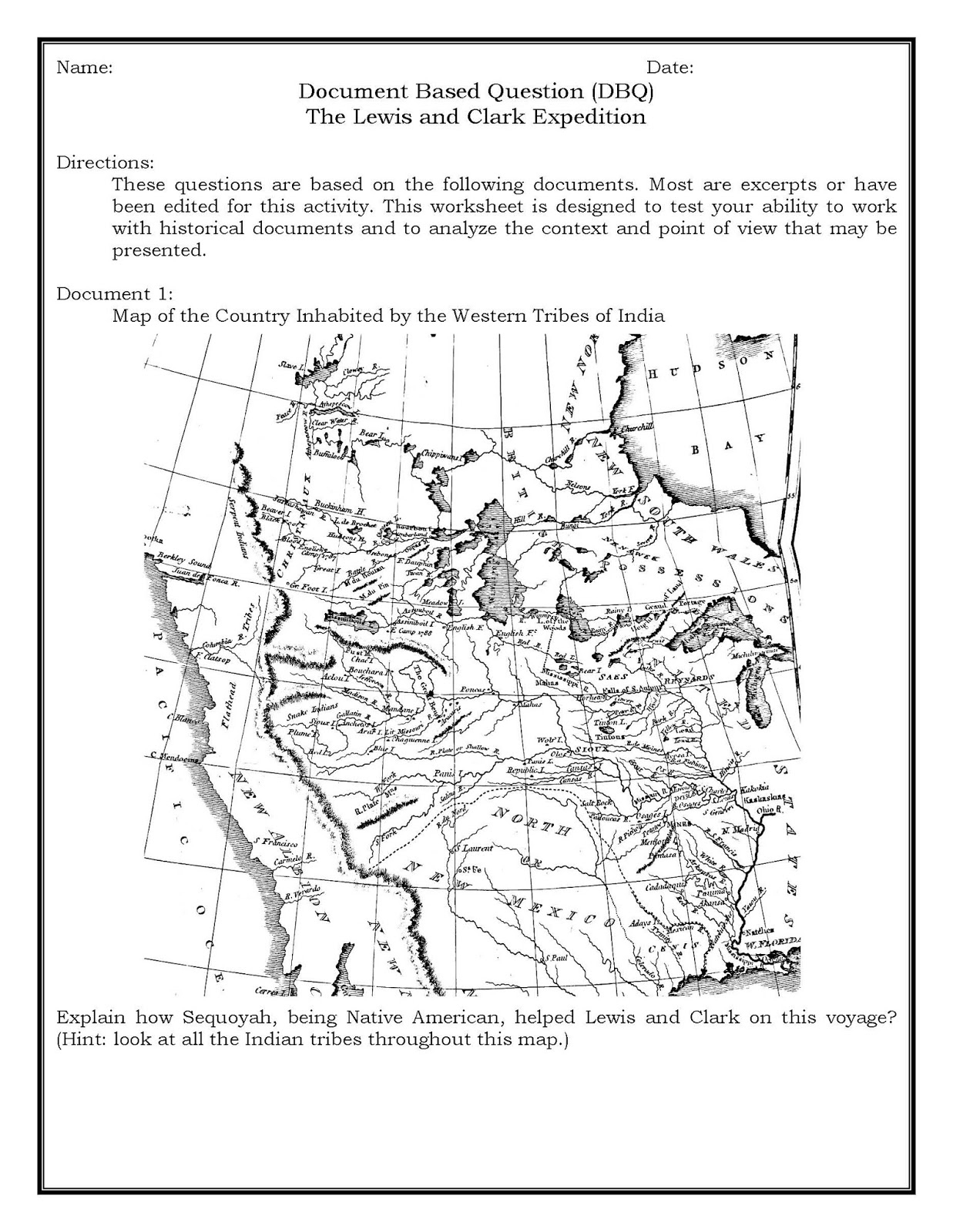 Lewis And Clark Worksheets Choice Image