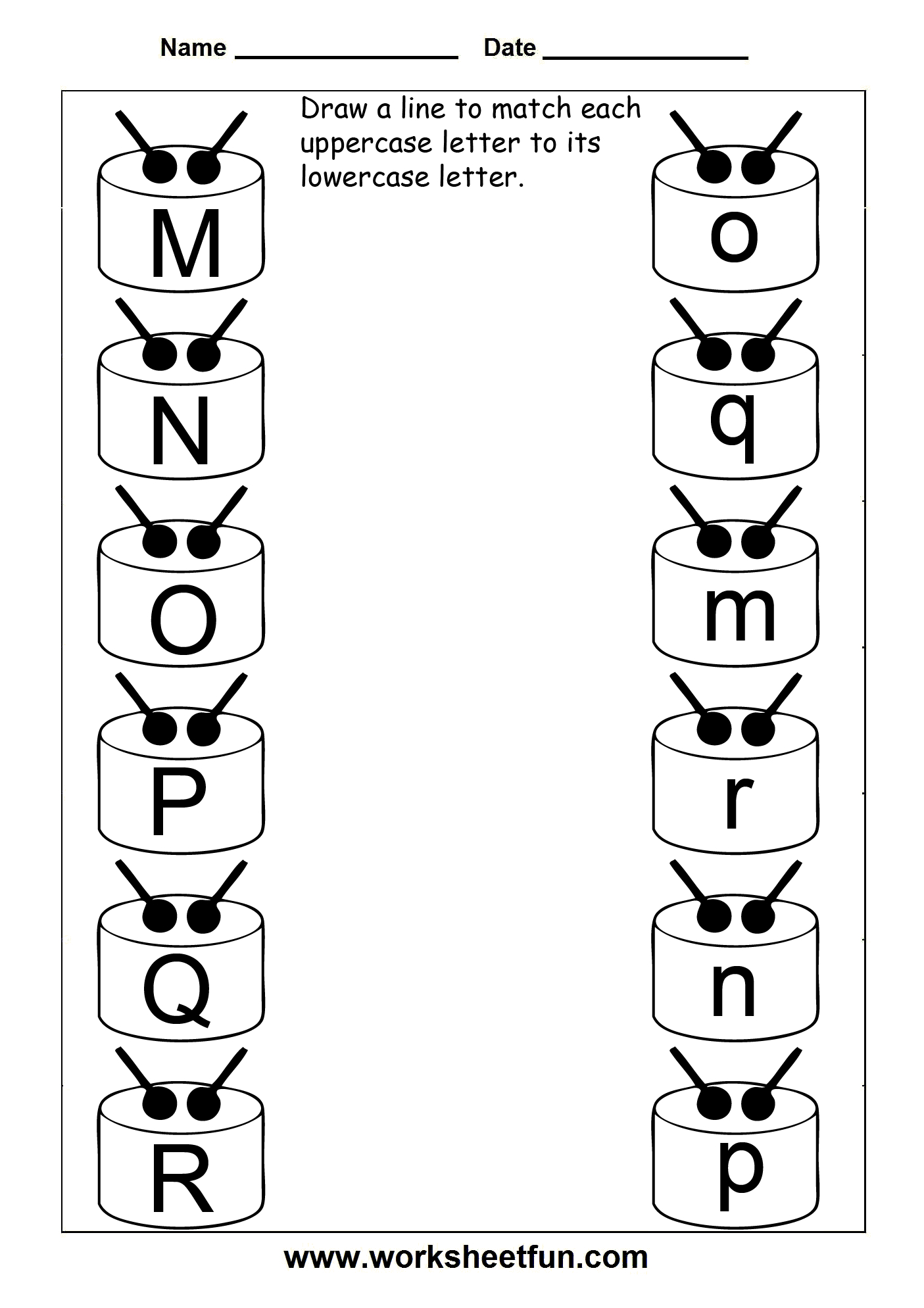 Match Uppercase And Lowercase Letters 13 Worksheets