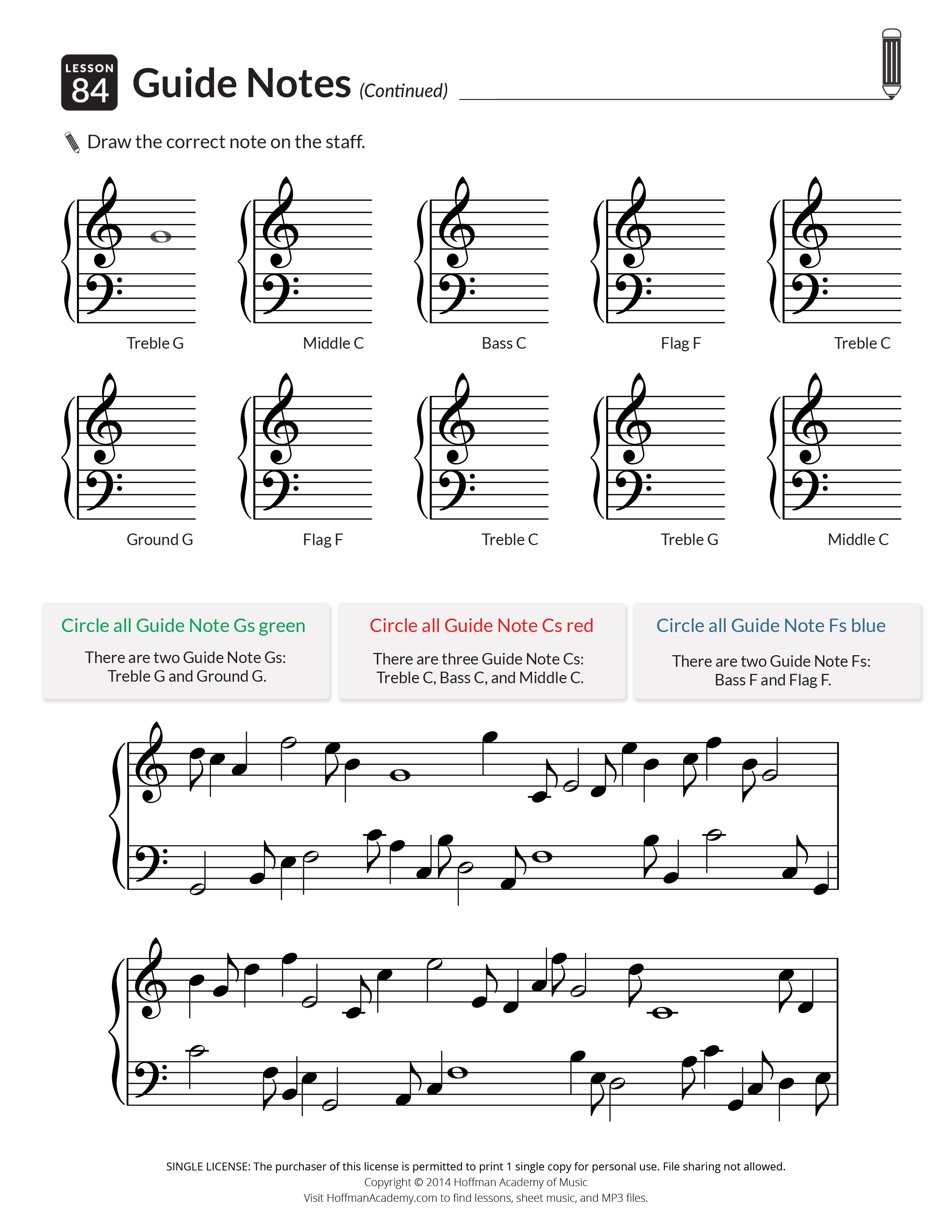 Free Sheet Music Pages Amp Guitar Lessons
