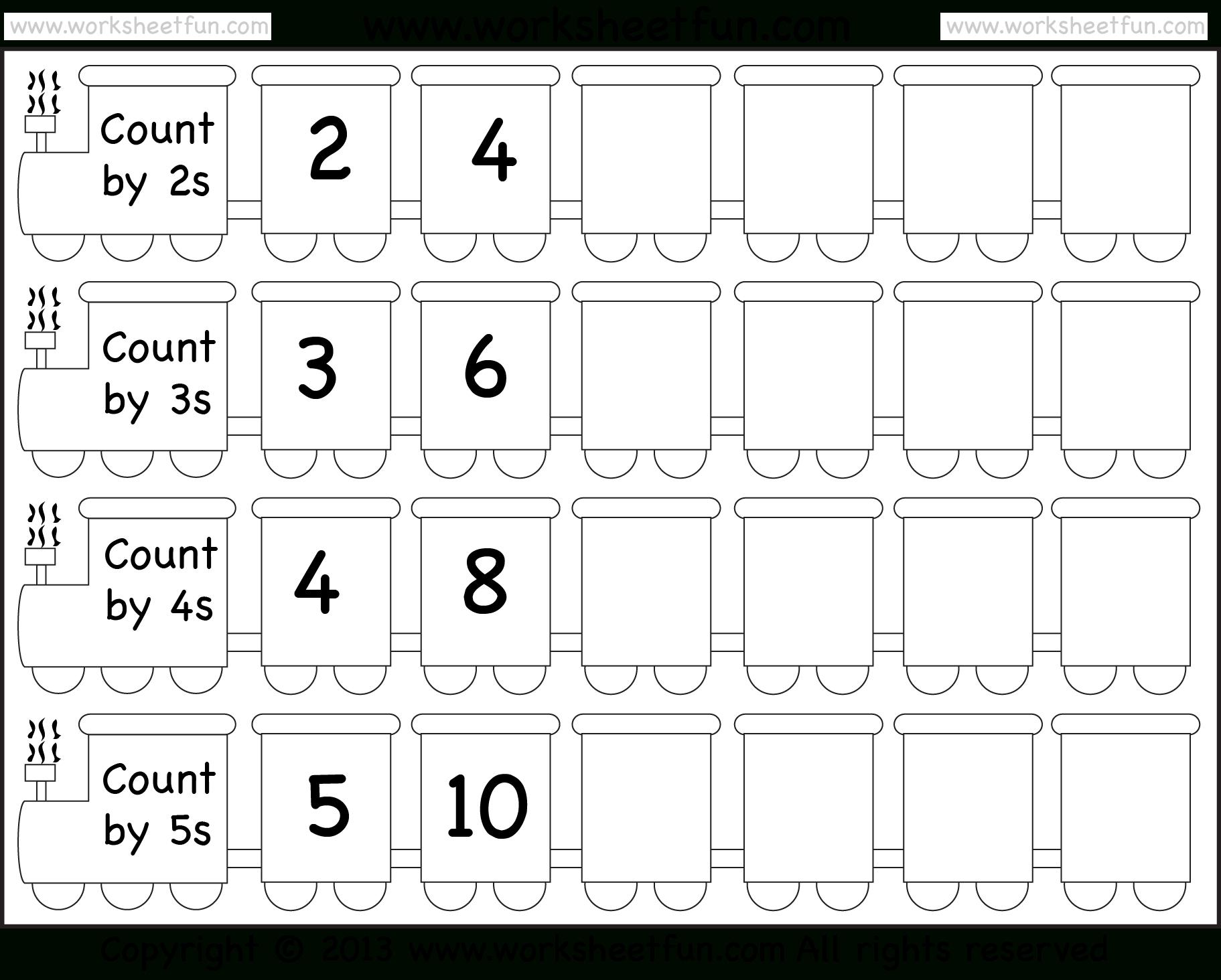 Counting In Twos Worksheet Printable
