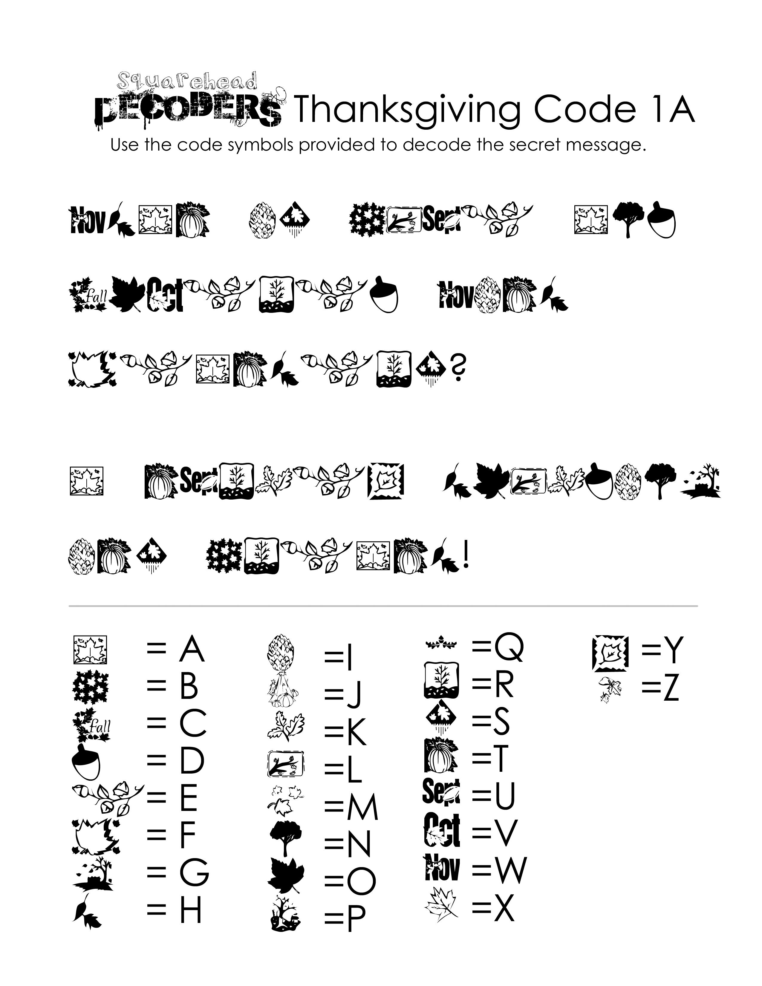 Alphabet Decoder Worksheet