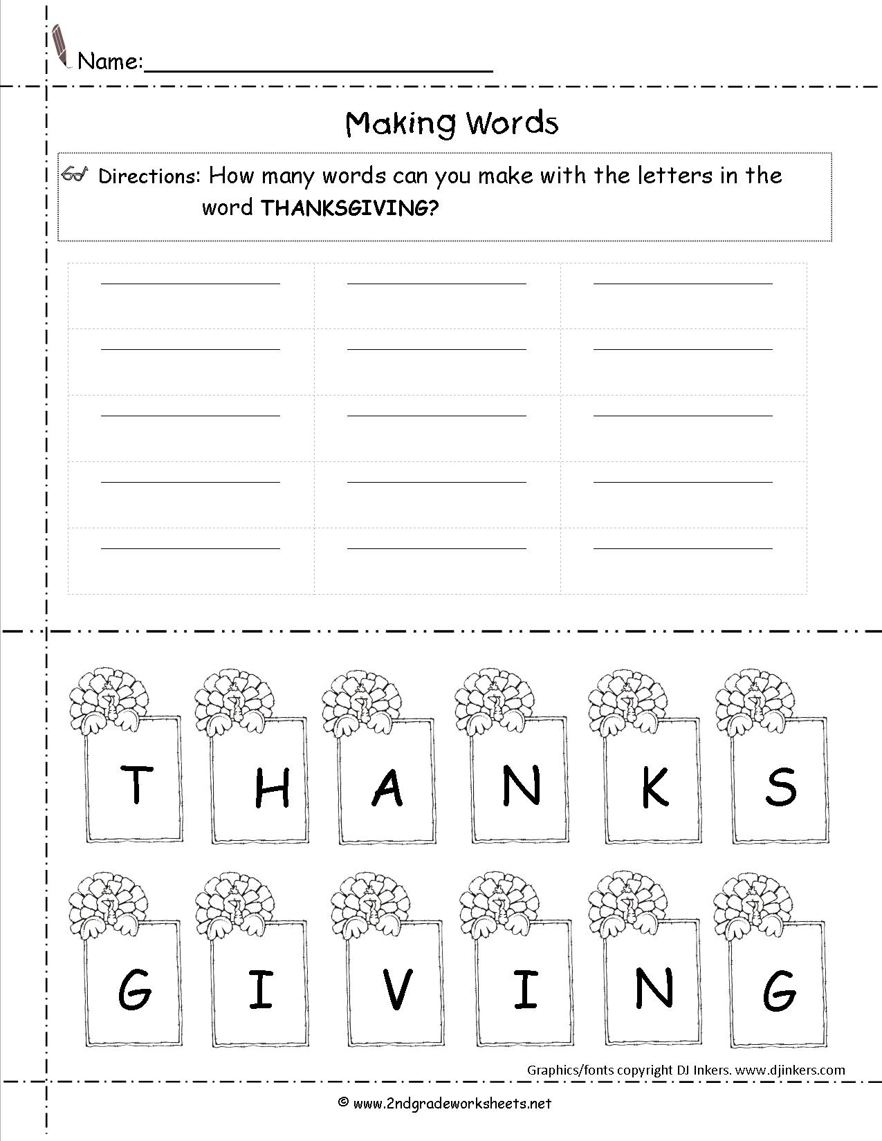 Math Worksheets Thanksgiving Free Printable Printables