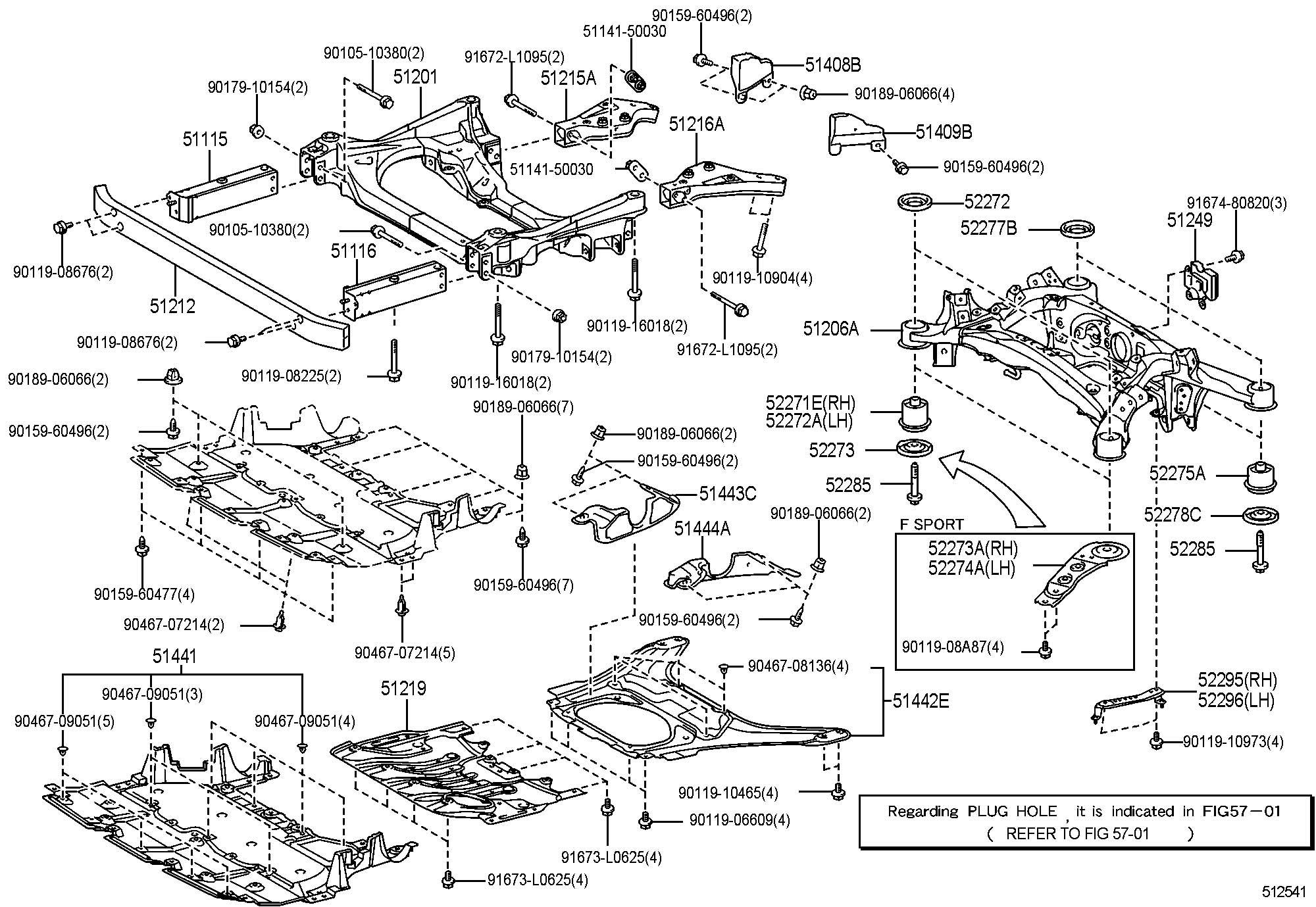 Lexus Ls460 460l Suspension Crossmember Amp Under Cover