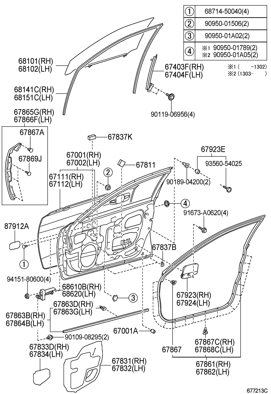 Lexus Gs450 Front Door Panel Amp Glass