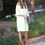 Off The Shoulder Dress In Yellow