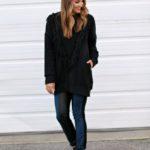 Black Fringe & Leather Leggings