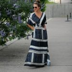 Vintage Print Maxi Dress