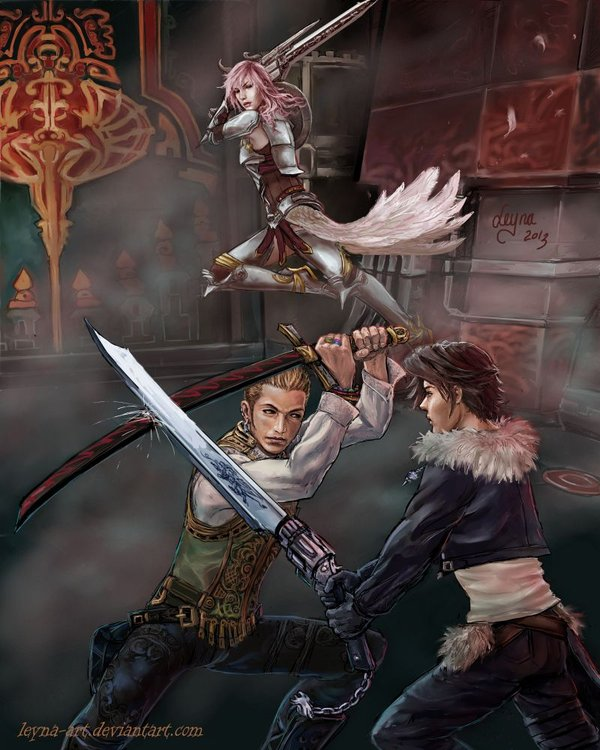 dissidia_aces___vs_squall_by_leyna_art-d5wdjef