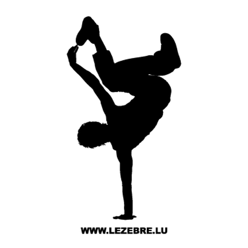 B Boy Breakdance Decal 2