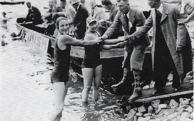 De acht kilometer zwemwedstrijd in de IJssel: de eerste jaarlijkse lange-afstandszwemtocht van Nederland