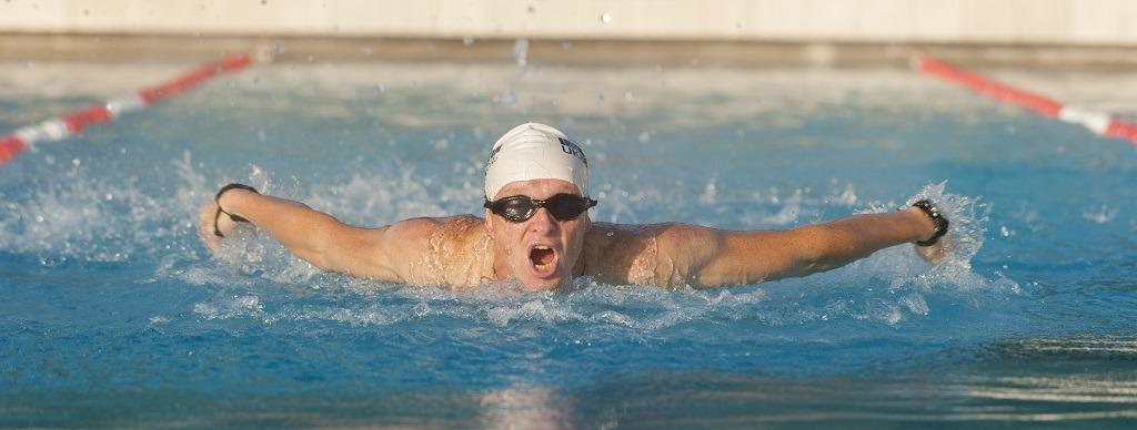 Entrainement natation de Ludovic Chorgnon.