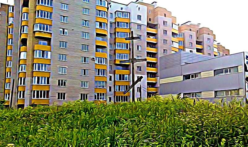 Des immeubles en couleur en ville