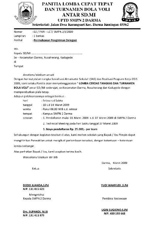 Contoh Surat Pemberitahuan Resmi Acara Yang Diselenggarakan Perusahaan