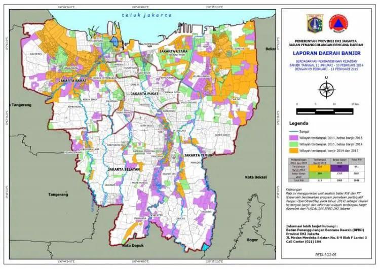 Gambar Peta Jakarta