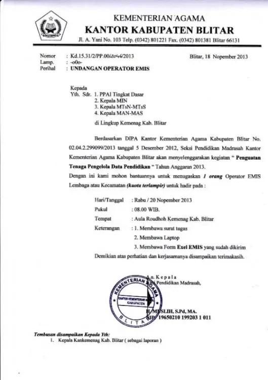 Contoh Surat Dinas Pengantar Pemerintahan