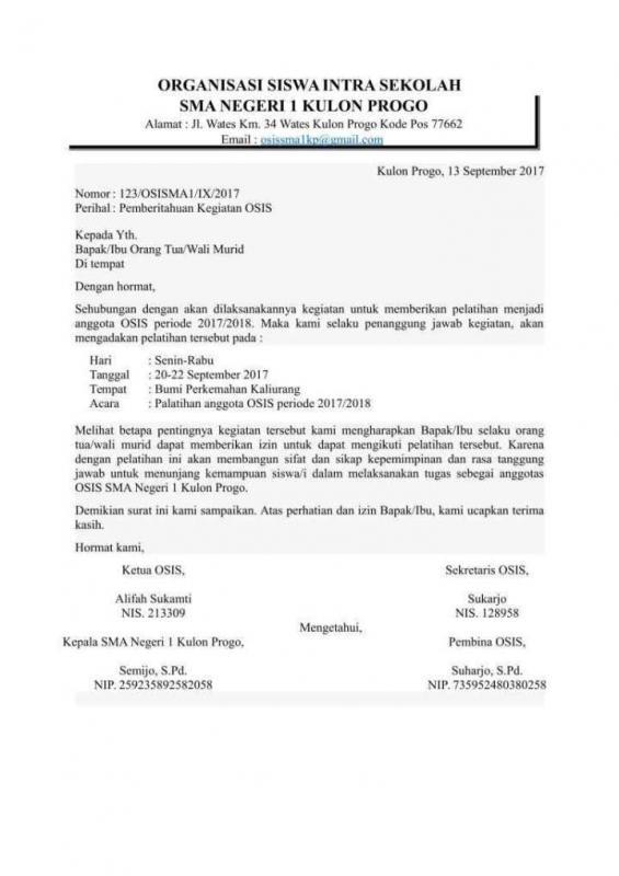 Contoh Surat Permohonan Bantuan Peminjaman Lokasi Kegiatan
