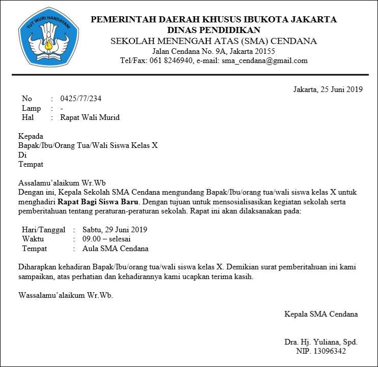 Contoh Surat Undangan Resmi Kegiatan Universitas