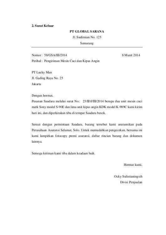Surat Keluar Dinas