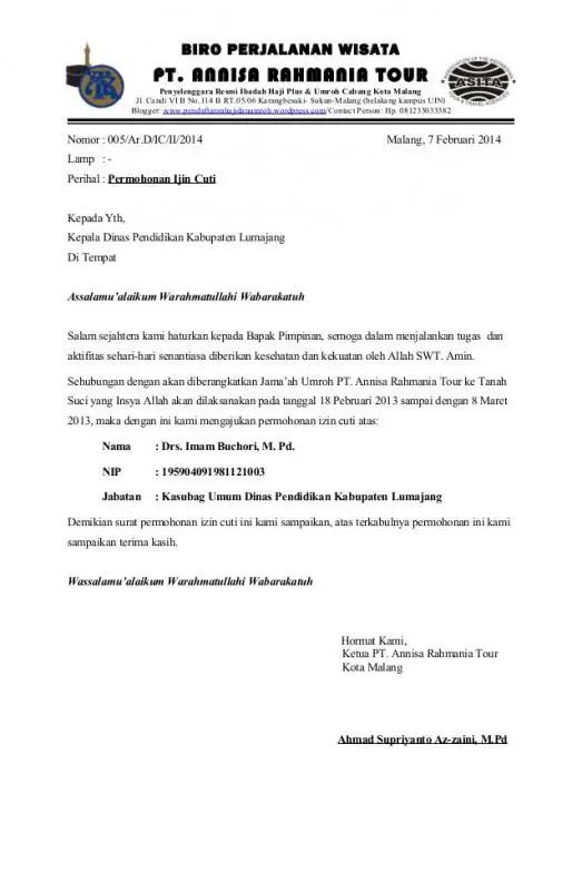 Contoh Surat Permohonan Tambahan Pegawai PNS