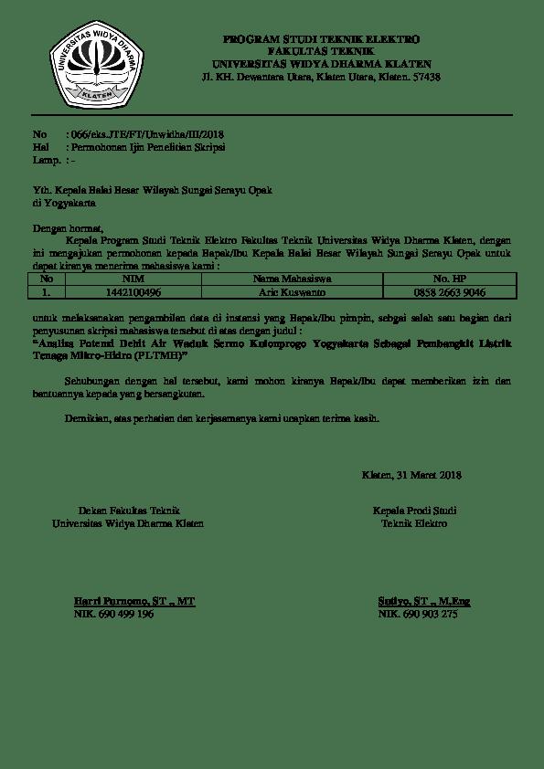 Contoh Surat Resmi Permintaan Data untuk Penyelesaian Studi