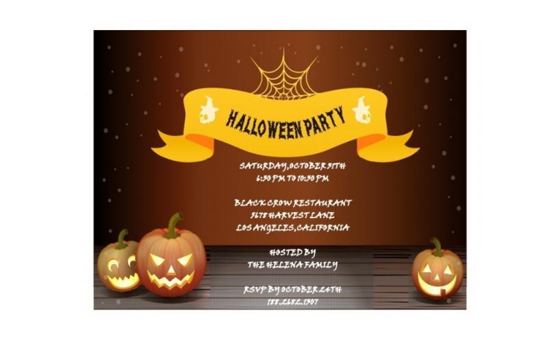 Contoh Surat Undangan Tidak Resmi Untuk Acara Halloween