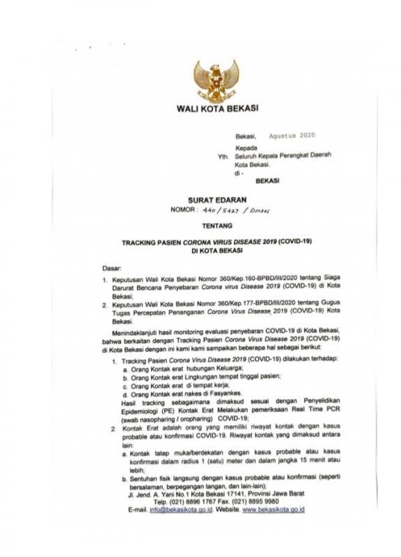 Surat Edaran Resmi Pemerintah Kota