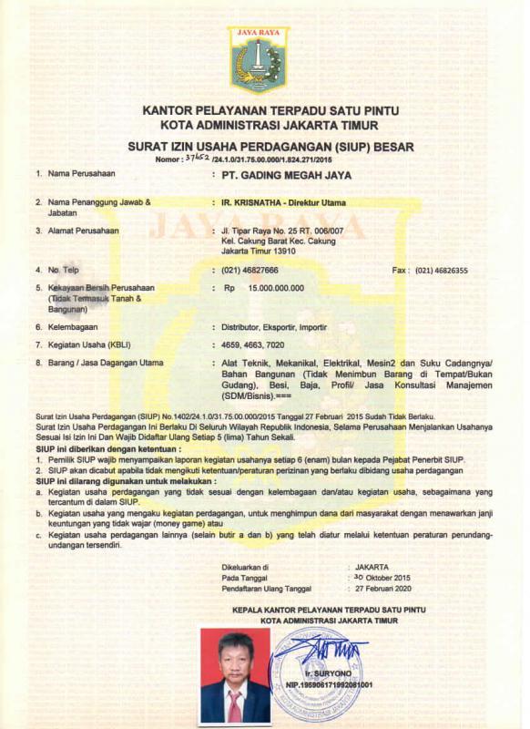 Surat Izin Usaha Perdagangan Besarr