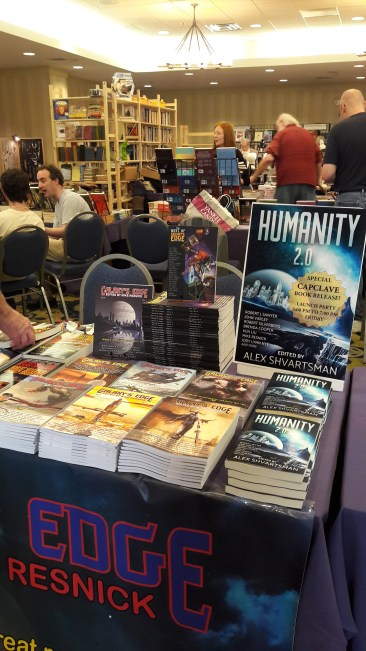Phoenix Pick/Galaxy's Edge Table (with Humanity 2.0 Launch!)—Capclave (Gaithersburg, Maryland)
