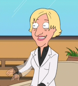 Ellen DeGeneres - A caricature of the real Ellen.