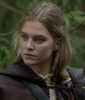 Robin - Daughter of Robin Hook and Zelena (the Wicked Witch of the West), she's a prodigious archer (of course) and ladies lady (... of course). In the Cursed Realm, she's traveling the world and we've not yet seen her.Her true love is Alice.